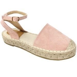 Blush Mary Jane Platform Espadrille Sandals